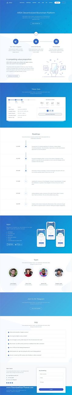 Arda is a clean and modern design responsive bootstrap #HTML #template for #Bitcoin, blockchain, #cryptocurrency and ICO landing page website to download & live preview click on image or Visit 🡽 #webdev
