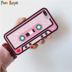 3D Audio Cassette Pink Cute iPhone Case #phonecases #retro #pink #cute #pinkphonecase