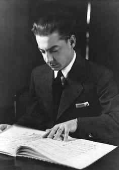 Herbert von Karajan (born Heribert, Ritter von Karajan); 5 April 1908 – 16 July 1989), Conductor - Principal conductor of the Berlin Philharmonic for 35 years.