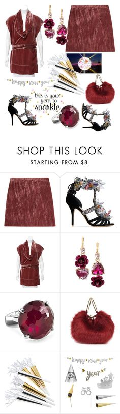 """NYE in Crushed Velvet & Crystal Shoes🥂"" by mdfletch ❤ liked on Polyvore featuring Nina Ricci, Sophia Webster, STELLA McCARTNEY, Betsey Johnson, Ippolita, Crate and Barrel and nye"