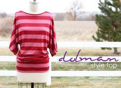 Easy, no-pattern dolman sleeve top.