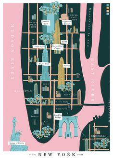 NY Travel Guide / by Sara Enríquez. via cosas visuales #maps
