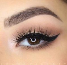 soft shadow and perfectly winged liner ~ we ❤ this! moncheriprom.com