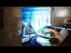 Spinning Point-of-View Painting Timelapse - Amy Shackleton - YouTube