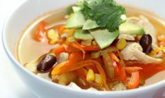 Healthy Mexican chicken soup - Kidspot