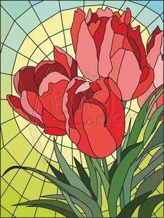 тюльпаны в витражах - Поиск в Google