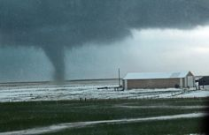 Kalvesta is an unincorporated community in Finney County, in western Kansas. And one day they up and had a tornado while there was still snow on the ground!
