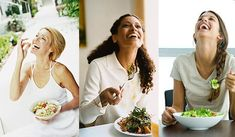 Women laughing alone with salad 2 Week Diet, New Funny Memes, Women Laughing, Sarcasm Humor, Happy Women, Work Humor, Funny Babies, Healthy Habits, Fruit Salad