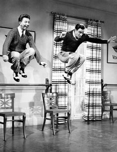 Donald O'Connor & Gene Kelly in Singin' In The Rain.  One of the very best musicals!