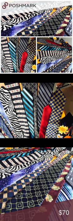 19 Designer Ties (Bundle deal) 19 Designer Neckties - Pure Silk etc Some of the brands are as follows;  • Nordstrom by J.Z. RICHARDS • Brittania • Perry Ellis Portfolio  • WEMLON by Wembley  • BERGAMO NEWYORK • J.Garcia • GASPARO • JCPenny • JOSEPH ABBOUND  Etc Perry Ellis Accessories Ties