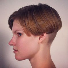 59 best images about Hairstyles Short Bowl Haircut Short Black Haircuts, Short Bob Hairstyles, Short Hair Cuts, Cool Hairstyles, Brunette Hairstyles, Shaved Hair Cuts, Shaved Nape, Chili Bowl Haircut, Short Bob Styles