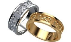 Infinity Wedding Rings, Eternity Wedding Bands, His and Her Promise Rings, Unique Wedding Bands, Wedding Ring set, Womens Wedding Ring
