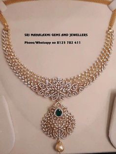 elegant diamond necklace 9482 #elegantdiamondnecklace