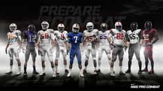 Nike Pro Combat Uniforms Launched For Elite College Football Teams Ncaa College Football, Watch Football, American Football, Spain Football, Espn College, Buckeyes Football, School Football, Nike Pro Combat, Watch Nfl Live