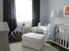 baby boy nursery. I like the curtains