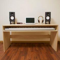 Music Desk, Office Music, Piano Desk, Home Office, Home Studio Desk, Music Studio Room, Murphy Bed Office, Home Music Rooms, Work Station Desk