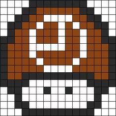 Tic Tock Mushroom Perler Bead Pattern / Bead Sprite