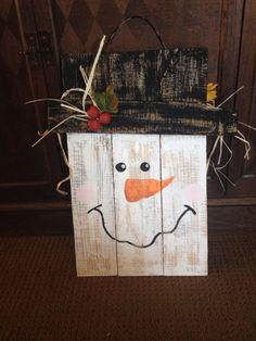 Snowman pallet...reverse side of scarecrow pallet