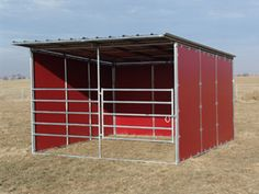 Noble Panels - Horse Shelters and Loafing Sheds Shed With Loft, Run In Shed, Horse Shed, Horse Stalls, Lean To Shelter, Small Horse Barns, Horse Barn Designs, Loafing Shed, Horse Shelter