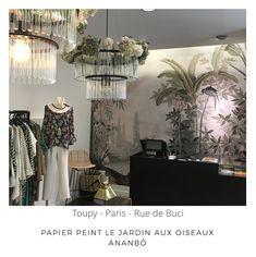Ananbô Papier Peint Le jardin aux oiseaux Boutique Toupy 75006 Paris