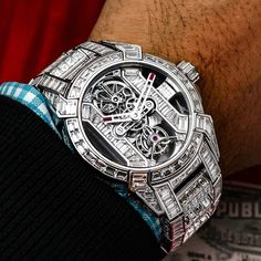 "8,945 Likes, 84 Comments - Jacob & Co. (@jacobandco) on Instagram: ""Make way! The King just arrived ~ ⌚️: Jacob & Co Epic X Tourbillon Baguette : @swisswatchgang…"""