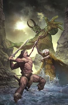 A while a go,did the cover for Dark Horse Comic,Conan the Slayer allot of fun doing it was done in Photoshop CS tablet and pencil and pape. Dark Horse Conan the Slayer Fantasy Warrior, Sci Fi Fantasy, Dark Fantasy, Darkhorse Comics, Conan Comics, Dc Comics, Sergio Davila, Conan Der Barbar, Conan The Destroyer