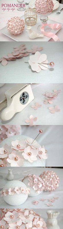paper hydrangea flowers