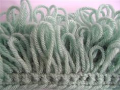 How to crochet the loop stitch..