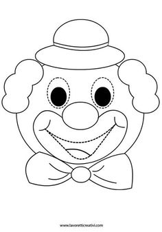 b Circus Birthday, Circus Theme, Circus Party, Clown Crafts, Carnival Crafts, Fall Arts And Crafts, Diy Crafts For Kids, Art Drawings For Kids, Drawing For Kids