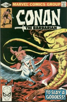 Cover for Conan the Barbarian (Marvel, 1970 series) Marvel Comics, Conan Comics, Marvel Fan, Comic Book Pages, Comic Book Covers, Comic Books Art, Comic Art, Book Art, Dc Universe