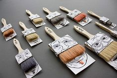 Much more inventive and fun packaging for brushes! Catches your attention and would appeal to a a lot of different people