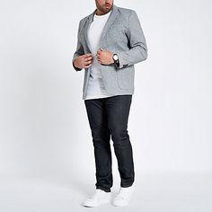 f1db9af892 Big and Tall dark blue Seth slim fit jeans