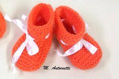 Uma  base para se fazer um sapatinho com qualquer ponto que você escolher. Ne ssa receita, temos o sapatinho em ponto tricô para bebês de 0...