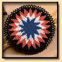 An example of Cherokee bead work. Photo courtesy of the Cherokee Preservation Foundation.