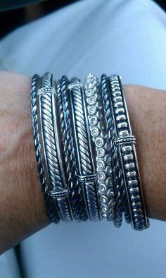 Some more of the Premier Designs bling that I sell - stack em up!