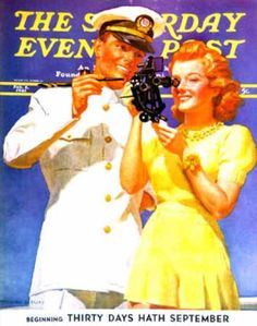 1941-02-08: Naval Officer & Redhead (McClelland Barc... Saturday Evening Post