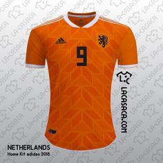 Adidas Netherlands 2018 Concept Kit by La Casaca - Footy Headlines Soccer Kits, Football Kits, Football Jerseys, Team Wear, Sport Wear, Football Shirt Designs, Sports Jersey Design, Jersey Atletico Madrid, Moda Masculina