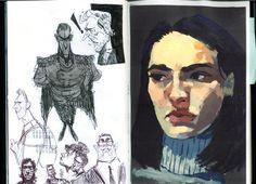 izzy's, mobble:   new sketchbook