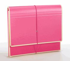Accordion File Folder in bright colors by Semikolon $16.99 also comes in a beautiful sky blue (ciel), plum, & lime (which really looks more like mint)
