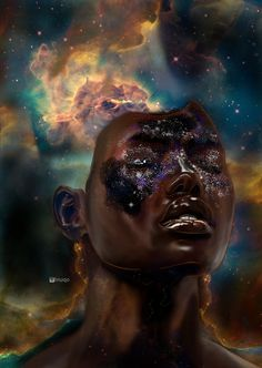 Razor Other Galaxies, Universe Tattoo, African Origins, Black Art Painting, Cosmic Consciousness, Black Art Pictures, Black Seed, Dark Matter, Ancient Symbols