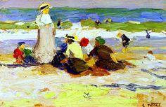 At the Beach  Edward Potthast- circa 1915