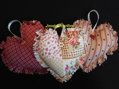 Shabby chic hearts heart decor bowl fillers by Jonquiljunction