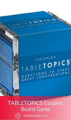 TABLETOPICS Couples Board Game Thatsweetgift Great Anniversary Gifts Adult Birthday Party Couple