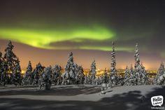 Aurora Borealis 13.1.2014 in Rovaniemi, Lapland, Finland.