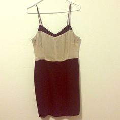 Beautiful Rachel Roy Dress This beautiful Rachel Roy dress is in perfect condition. It's a size six but fits more like an 8. Sheer champaign fabric on top & black on bottom. Gorgeous & perfect for the holidays. RACHEL Rachel Roy Dresses