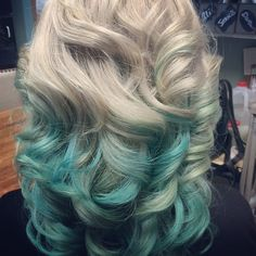"""Blue and Teal Ombré!"""