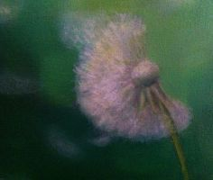 Flower, oil painting on canvas
