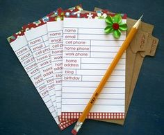 What a great way to get organized...a diy address card file.