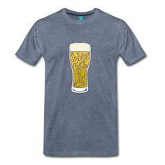 """bock de bière avec mousse, et texte """"La bière c'est la vie!"""" Shirt Shop, T Shirt, Mousse, Tees, Mens Tops, Shopping, C'est La Vie, Supreme T Shirt, Tee Shirt"""