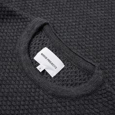 71ad5fad828 Norse Projects Skagen All Over Bubble Knit Charcoal Melange 2 Norse Projects